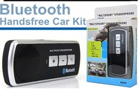 wholesale multipoint Speakerphone Bluetooth Handsfree V2.1 Car Kit Sun Visor Clip for Moblie black 200pcs