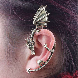 Min.order is $15 (mix order) Fashion punk vintage ear hook othic dragon ear cuff clip earrings(China (Mainland))