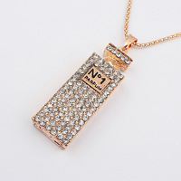 Min Order 15$ Free Shipping New Arrival Western Style Perfume Bottle Necklaces Fashion  Good Quality Wholesale Hot HG0193