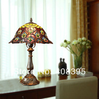 Free shipping Tiffany-style Floral Bronze Finish Table Lamp