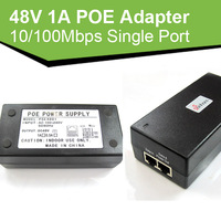 SH-480100 10/100Mbps Single Port Power Over Ethernet Adapter 48V 1A POE power PoE adapter