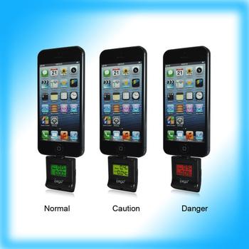 5pcs/Lot  2013 Mini digital breath alcohol tester for iPhone 5 / for iPod touch 5 / for iPad 4/ for ipad mini free shipping