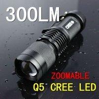 2014 New Flashlight Led  Zoom  Bright Safety  Waterproof 300 Lumen Light Lamp torch Free Shipping