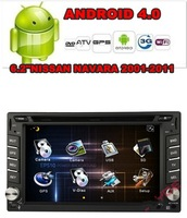 Free Shipping Android 4.0 6.2inch 2Din Car Video Player For NISSAN NAVARA 2001-2011(PIP,3D UI,GPS,TV,WIFI,3G,BT,IPOD,RDS)