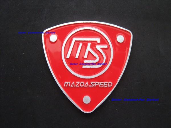 Free Shipping,New Aluminium Metal Car Logo Emblem Badge Mazda Speed ...