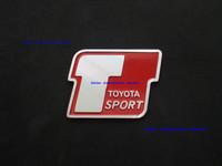 Free Shipping,New Aluminium Metal Car Logo Emblem Badge Toyota Sport Red