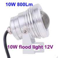 Free Shipping glass 12V LED Waterproof 10W Floodlight Lamp, LED Underwater Light White, led bulb led strip