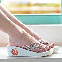 Free shipping new 2013 summer shoes sandals for women Bohemia flip flops transpierce wedges women ladies shoe  high heel sandals