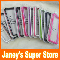 High Quality TPU Bumper Case for apple iPhone 5 5S Soft TPU Frame wholesale 50 pcs/lot free shipping