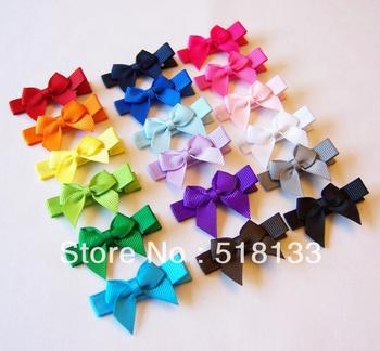 Free Shipping 100pcs/lot Grosgrain Ribbon Baby Girls Hairgrips,Cute Hair Bows,Boutique Children Hair Clips,Kids Hair Accessories