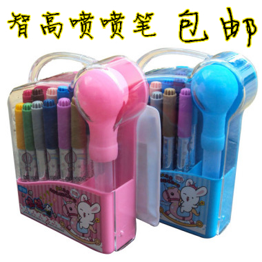 Free shipping Zhigao kk rabbit airbrush kk-522 12 airbrush set watercolor pen cartoon painting paint brush