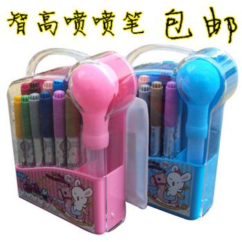 Free shipping Zhigao kk rabbit airbrush kk-522 12 airbrush set watercolor pen cartoon painting paint brush