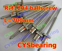 1set 1204 rolled ballscrew Linear motion CNC XYZ Ball screw SFU1204 700mm length with one ballnut