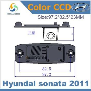 Free shipping Car rear view camera For Hyundai Sonata 2011 Color CCD night vision car reverse camera