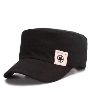 A Primavera eo Outono a tendência do tampão da forma sunbonnet cadete cap marinheiro da marinha de cinco pontas applique estrela chapéu militar(China (Mainland))