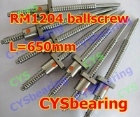 1set 1204 rolled ballscrew Linear motion CNC XYZ Ball screw SFU1204 650mm length with one nut