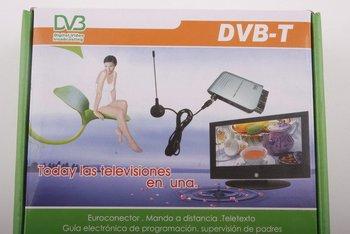 Scart Digital TV Box Tuner DVB-T FreeView Receiver SD