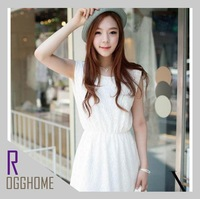 2013 New Bud silk Romantic elements A word brought Embroidery Skirt White Women's dress RG1203086