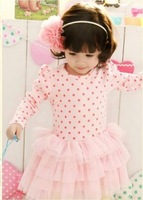 FREE SHIPPING 2013  children's clothing girl dress   child   princess dress
