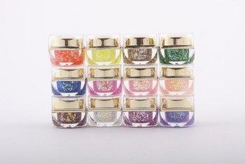 12 Mix Colors Glitter UV Builder Gel Nail Art Tips 8ml