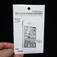 50pcs free shipping antiglare screen protector films for iphone 4 4s