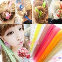 Angel Women Long Straight Hair Wig Hair Extension Hair 20 color Cosplay False Hair Wholesale JF555