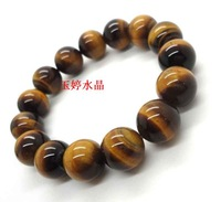 Natural crystal bracelet beautiful natural yellow tiger eye crystal bracelet tiger eye stone bracelet male Women