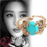 Pl290 Fashion Necklace Blue Necklace Gold Plated Torques Semi-Precious Necklace New Fashion Jewelry Set Free Shipping