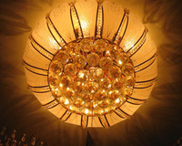Gold crystal lamp ceiling light living room lights bedroom lamp indoor lamps