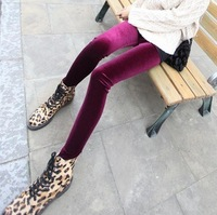 Freeshipping (1piece/lot) New winter gold velvet leggings super good stretch in the thick Slim was thin models pencil pants