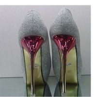 2012 New Peep Toe Pump* Sparkle Glitter * Double Platform Stiletto Heels #780