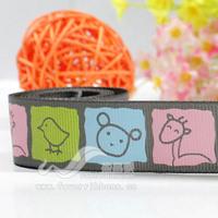 22mm animal ribbon cartoon ribbon child hair accessory ribbon 1