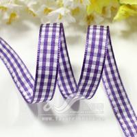 Ribbon 9mm purple plaid belt plaid belt diy hair accessory ribbon 12 50