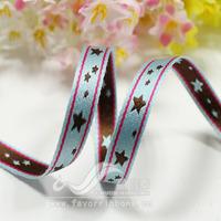 Ribbon 7mm star jacquard belt five-pointed star jacquard webbing diy ribbon 20 50