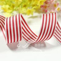 Ribbon hongbai 21mm ribbon red white stripe ribbon diy ribbon 25 50
