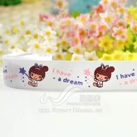 22mm cartoon figure ribbon cartoon ribbon handmade diy hair accessory material , 1 i have a dream