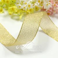Ribbon 25mm glitter band gold ribbon gift packing ribbon gold 28 33