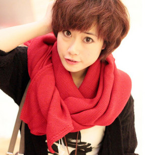 2013 autumn and winter solid color bevel ultra long yarn scarf candy color large cape women's(China (Mainland))