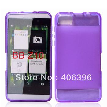 50Pcs/Lot DHL Free Shipping Plain Matting TPU Case for Blackberry Z10