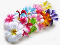 Mixed Plumeria Frangipani Heads  Artificial Silk Flower  3 inches  03