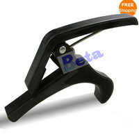 Free shipping! 1pc Music Acoustic Electric Quick-Change Tune Tuning black Guitar Capo Clamp Trigger by China post