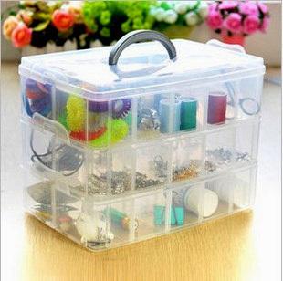 best quality eco-friendly  plastic storage box transparent storage box plastic jewelry box tool box 302g 16.3x15x13