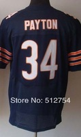 Free Shipping #34 Walter Payton Men's Elite Football Jersey,Embroidery and Sewing Logos,Size M--3XL ,Accept Mix Order