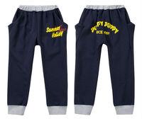 Wholesale 5 pcs spring autumn Dark Blue Gray green children boy baby kids haren pants casual cotton pants trousers PEQZ22P07