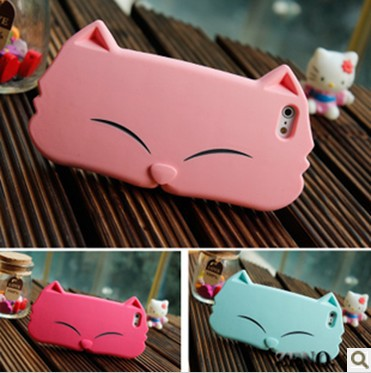 3D Cute Cat Soft Silicon Case For iPhone 5 5G Apple Accessories Case Cover Mobile Phone Protector Case Free Shipping(China (Mainland))