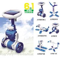 Free Shipping Fashion Solar Robots,6 In 1 Educational DIY Solar Kits,Solar Toys,Christmas Gifts