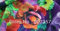 Wholesale 100% silk / printed silk crepe de chine / SILK cheongsam fabric 048