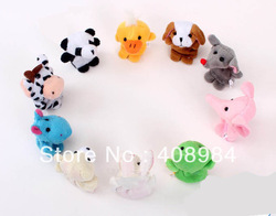 free shipping 100pcs/lot Wholesale,Baby Plush Toy,Finger Puppets,Hand Puppets(China (Mainland))