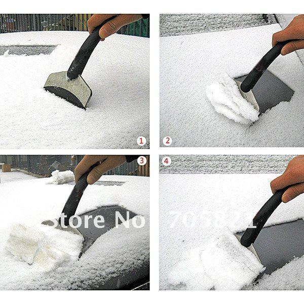 HOT Emergency Car Vehicle Snow Ice Shovel Scraper Removal Clean Tool w/ handle(China (Mainland))