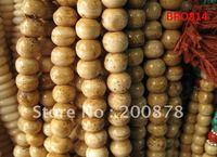 BRO814  Tibetan 108  antiqued Yak bone rosary,10mm,Beige yellow round bone prayer beads malas